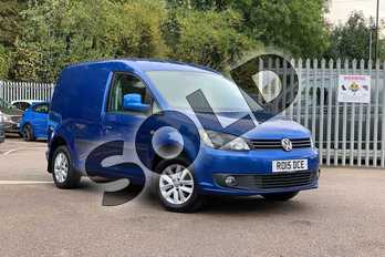 Volkswagen Caddy C20 Diesel 1.6 TDI BlueMotion Tech 102PS Highline Van DSG in Ravenna Blue Metallic at Listers Volkswagen Van Centre Coventry