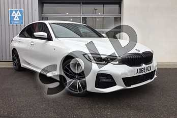 BMW 3 Series Diesel 320d M Sport 4dr Step Auto in Mineral White at Listers King's Lynn (BMW)