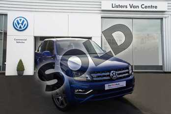 Volkswagen Amarok D/Cab Pick Up Highline 3.0 V6 TDI 224 BMT 4M Auto in Raven Blue at Listers Volkswagen Van Centre Coventry