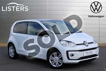 Volkswagen Up 1.0 High Up 5dr in Pure white at Listers Volkswagen Nuneaton