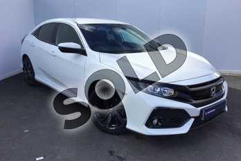 Honda Civic 1.0 VTEC Turbo SR 5dr in White Orchid at Listers Honda Solihull