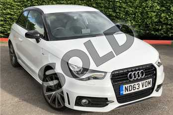 Audi A1 Special Editions 1.4 TFSI S Line Style Edition 3dr in Metallic - Glacier white at Listers U Boston