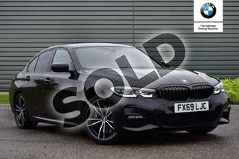 BMW 3 Series 320i M Sport 4dr Step Auto in Black Sapphire metallic paint at Listers Boston (BMW)