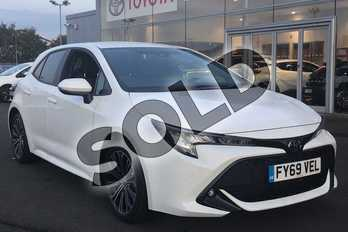 Toyota Corolla 1.2T VVT-i Design 5dr in White at Listers Toyota Lincoln