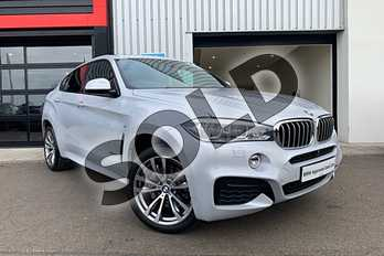 BMW X6 Diesel xDrive40d M Sport 5dr Step Auto in Pearl Silver at Listers King's Lynn (BMW)