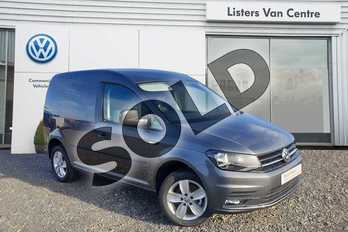 Volkswagen Caddy C20 Diesel 2.0 TDI BlueMotion Tech 150PS Highline Van in Indium Grey at Listers Volkswagen Van Centre Coventry