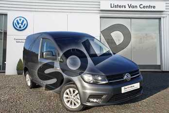 Volkswagen Caddy C20 Diesel 2.0 TDI BlueMotion Tech 102PS Highline Nav Van in Indium Grey at Listers Volkswagen Van Centre Coventry