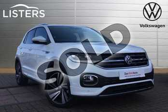 Volkswagen T-Cross 1.6 TDI R Line 5dr in Pure White at Listers Volkswagen Loughborough