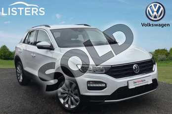 Volkswagen T-Roc 2.0 TDI SE 5dr in Pure white at Listers Volkswagen Loughborough
