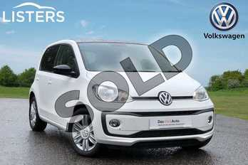 Volkswagen Up 1.0 High Up 5dr in Pure white at Listers Volkswagen Loughborough