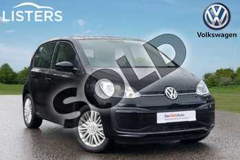 Volkswagen Up 1.0 Move Up 5dr in Deep black at Listers Volkswagen Loughborough