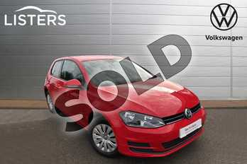 Volkswagen Golf 1.2 TSI S 3dr in Tornado Red at Listers Volkswagen Nuneaton