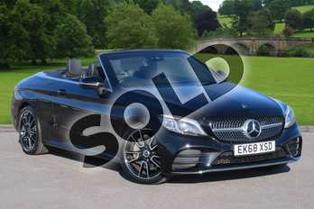 Mercedes-Benz C Class C300 AMG Line Premium 2dr 9G-Tronic in obsidian black metallic at Mercedes-Benz of Boston