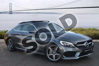 Mercedes-Benz C Class C200 AMG Line Premium Plus 2dr 9G-Tronic in Selenite Grey Metallic at Mercedes-Benz of Grimsby