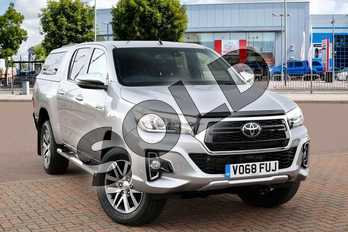 Toyota Hilux Diesel Invincible X D/Cab Pick Up 2.4 D-4D Auto in Silver Blade at Listers Toyota Cheltenham
