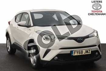 Toyota C-HR 1.8 Hybrid Icon 5dr CVT in White at Listers Toyota Lincoln