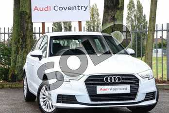 Audi A3 Diesel 1.6 TDI 116 SE Technik 5dr S Tronic in Glacier White Metallic at Coventry Audi
