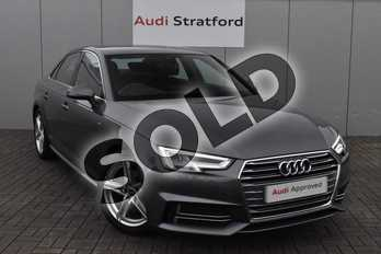 Audi A4 2.0T FSI S Line 4dr in Monsoon Grey Metallic at Stratford Audi