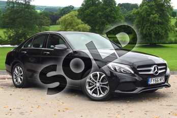 Mercedes-Benz C Class Diesel C220d Sport Premium 4dr Auto in Obsidian Black Metallic at Mercedes-Benz of Grimsby