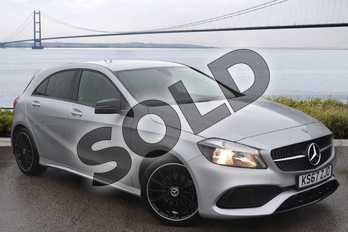 Mercedes-Benz A Class Diesel A180d AMG Line 5dr in Polar Silver at Mercedes-Benz of Hull