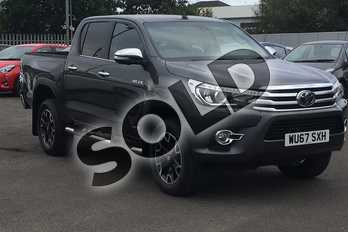 Toyota Hilux Diesel Invincible X D/Cab Pick Up 2.4 D-4D in Grey at Listers Toyota Cheltenham