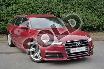 Audi A6 Diesel 2.0 TDI Quattro S Line 5dr S Tronic in Matador Red Metallic at Worcester Audi