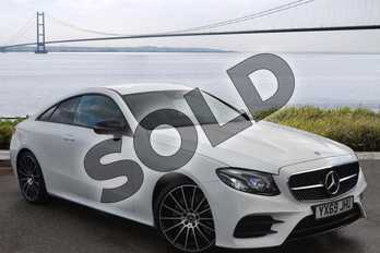 Mercedes-Benz E Class Diesel E220d AMG Line 2dr 9G-Tronic in Polar White at Mercedes-Benz of Hull