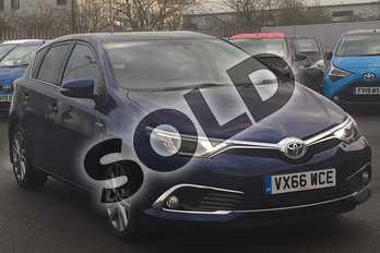 Toyota Auris 1.8 Hybrid Excel 5dr CVT in Orion Blue at Listers Toyota Cheltenham