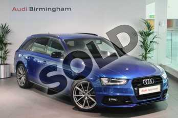 Audi A4 Special Editions 2.0 TDI 190 Quattro Black Ed 5dr S Tronic (Nav) in Sepang Blue, pearl effect at Birmingham Audi