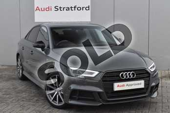 Audi A3 Special Editions 1.5 TFSI Black Edition 4dr S Tronic in Nano Grey Metallic at Stratford Audi