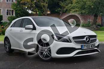Mercedes-Benz A Class Diesel A200d AMG Line Premium Plus 5dr Auto in Cirrus White at Mercedes-Benz of Lincoln