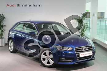 Audi A3 1.4 TFSI 125 Sport 3dr (Nav) in Scuba Blue Metallic at Birmingham Audi