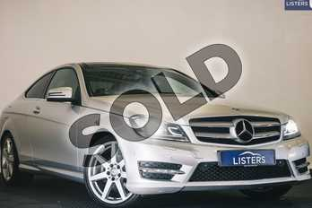 Mercedes-Benz C Class C180 AMG Sport Edition 2dr Auto (Premium Pl) in Metallic - Iridium silver at Listers U Stratford-upon-Avon