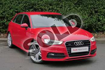 Audi A3 1.8 TFSI Quattro S Line 5dr S Tronic in Brilliant Red at Worcester Audi