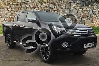 Toyota Hilux Diesel Invincible X D/Cab Pick Up 2.4 D-4D Auto in Black at Listers Toyota Boston