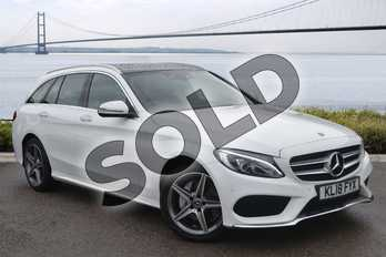 Mercedes-Benz C Class C200 4Matic AMG Line Premium 5dr Auto in polar white at Mercedes-Benz of Hull