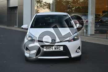 Toyota Yaris 1.5 VVT-i Hybrid Trend 5dr CVT in Solid-Pure white at Listers Land Rover Hereford