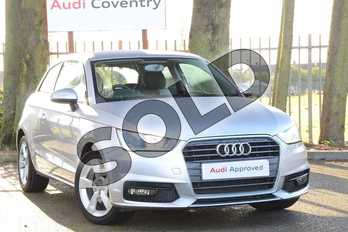 Audi A1 1.4 TFSI Sport 3dr in Floret Silver, metallic at Coventry Audi