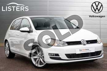 Volkswagen Golf Diesel 1.6 TDI 110 GT Edition 5dr in Pure white at Listers Volkswagen Leamington Spa