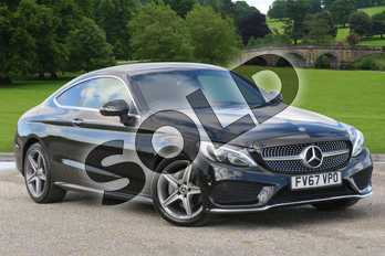 Mercedes-Benz C Class Diesel C220d AMG Line Premium 2dr Auto in Obsidian Black Metallic at Mercedes-Benz of Boston