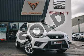 SEAT Arona 1.0 TSI 115 FR (EZ) 5dr DSG in Nevada White at Listers SEAT Coventry