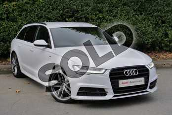 Audi A6 Special Editions 2.0 TDI Ultra Black Edition 5dr in Glacier White Metallic at Worcester Audi