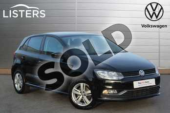 Volkswagen Polo Diesel 1.4 TDI 75 Match 5dr in Flat Black at Listers Volkswagen Nuneaton
