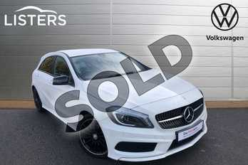 Mercedes-Benz A Class Special Editions A200 AMG Night Edition 5dr in Cirrus White at Listers Volkswagen Worcester