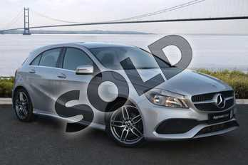 Mercedes-Benz A Class Diesel A200d AMG Line 5dr Auto in Polar Silver at Mercedes-Benz of Boston