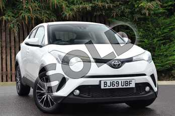 Toyota C-HR 1.2T Excel 5dr (Leather) in Pure White at Listers Toyota Coventry