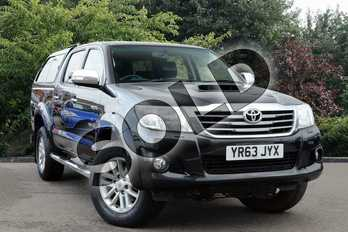 Toyota Hilux Diesel Invincible D/Cab Pick Up 3.0 D-4D 4WD 171 in Black at Listers Toyota Nuneaton