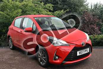 Toyota Yaris 1.5 VVT-i Icon Tech 5dr in Red at Listers Toyota Stratford-upon-Avon