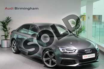 Audi A4 Special Editions 2.0 TDI Black Edition 4dr in Daytona Grey Pearlescent at Birmingham Audi