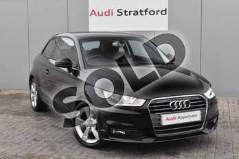 Audi A1 1.0 TFSI Sport 3dr in Brilliant Black at Stratford Audi